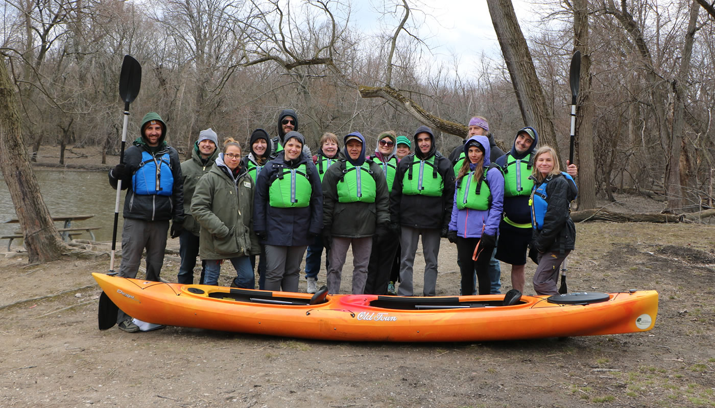 participants in the Greater Maywood Paddling Program