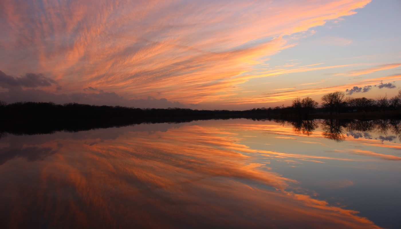 Sunset over Tampier Lake. Photo by Robert Schwaan..