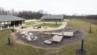 pavilion and nature play area at Camp Shabbona Woods