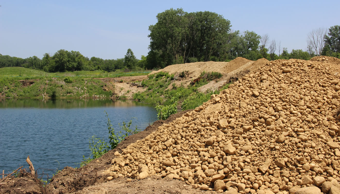 a pile of earth at Bluff Spring Fen