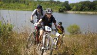 mountain bikers on the Palos single track trails