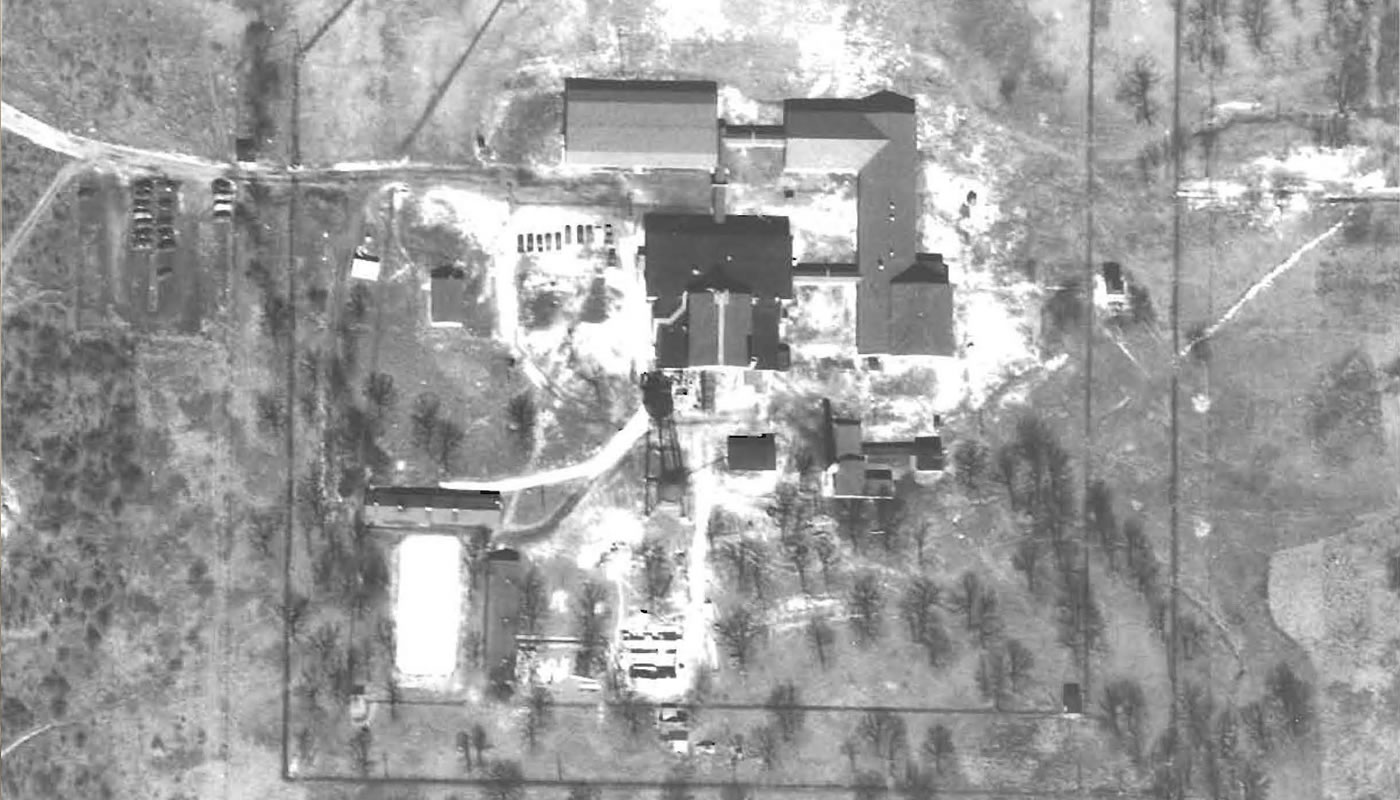 an aerial view of Site A