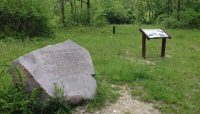signs explaining Site A, burial place of the world's first nuclear reactor