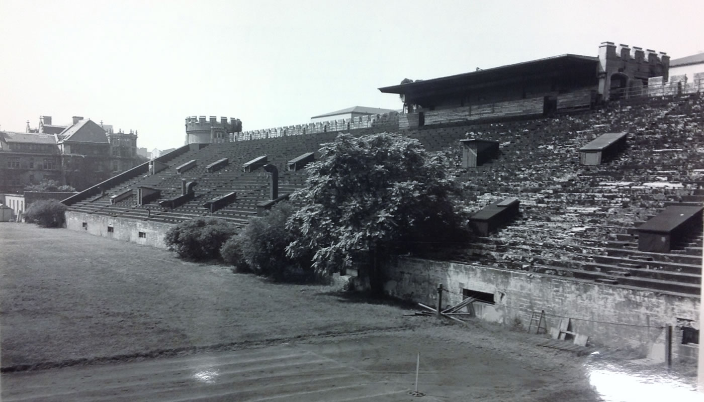 University of Chicago's abandoned Stagg Field.