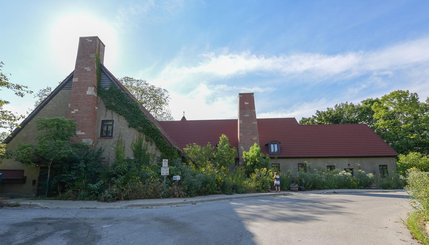 the Mathew Bieszczat Volunteer Resource Center building and parking lot