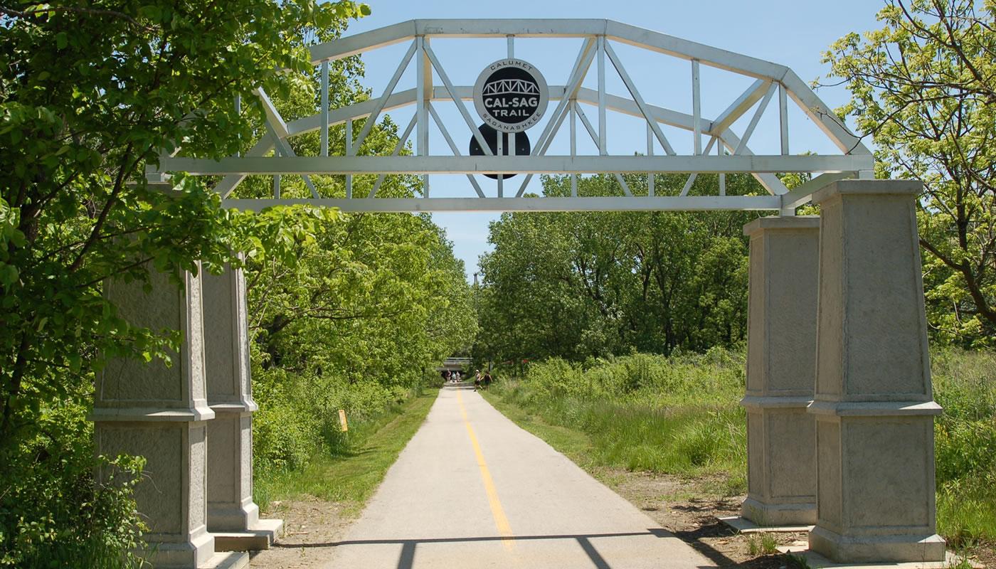 Cal-Sag Trail entrance gate