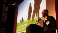 Arnold Randall introducing the Centennial Campaign Plan.