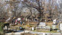 pioneer cabins at Sand Ridge Nature Center
