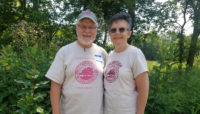 Dave and Kathy Branigan at Little Red Schoolhouse Nature Center.
