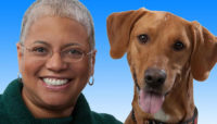 Dr. Donna Alexander with her dog Leroy Brown.
