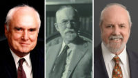 Left: Dwight H. Perkins II, Middle: Dwight Perkins, Right: L. Bradford Perkins