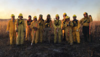 a prescribed burn crew a Poplar Creek. Photo by Daniel Suarez.