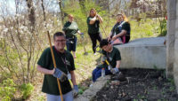 Volunteers from UCP Seguin at Little Red Schoolhouse Nature Center. Photo by Amy Julian.