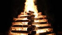 a large bonfire