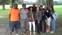 a group of Youth Outdoor Ambassadors