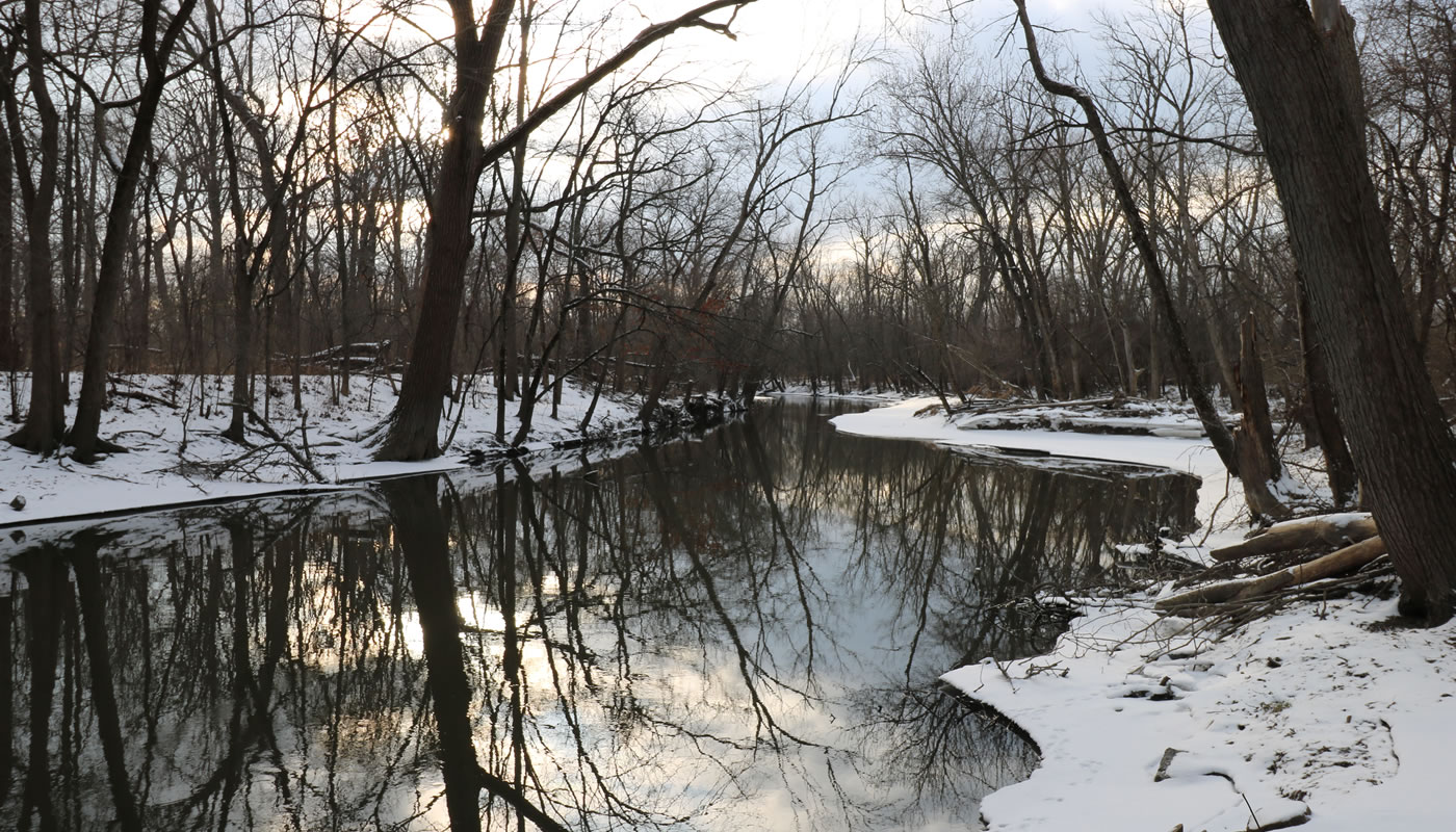 North Branch of the Chicago River at Watersmeet Woods