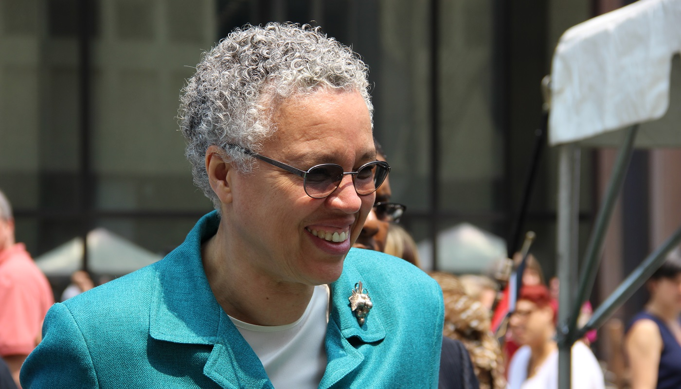 Cook County Board and Forest Preserves President Toni Preckwinkle at an event.