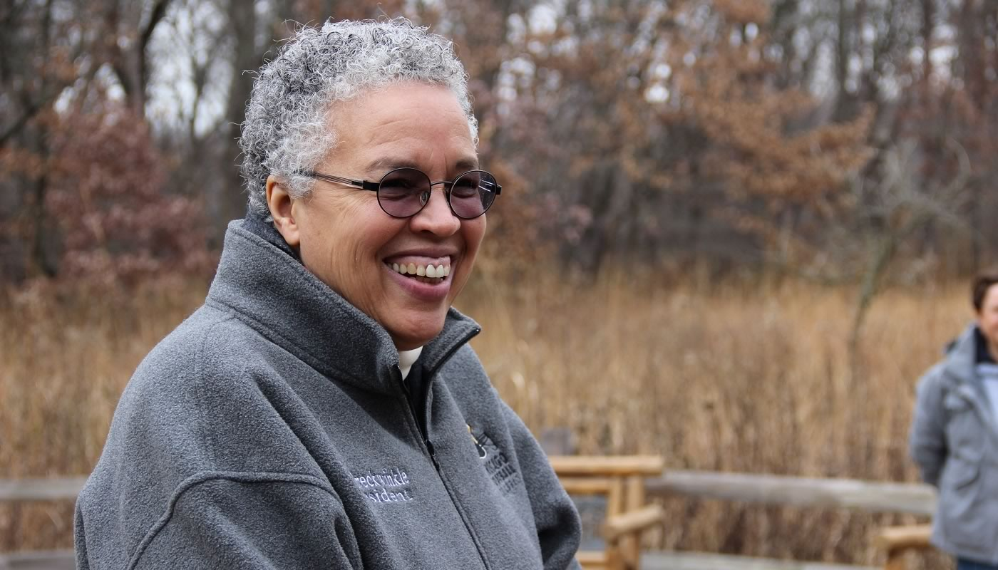 President Toni Preckwinkle at the Settler's Day event