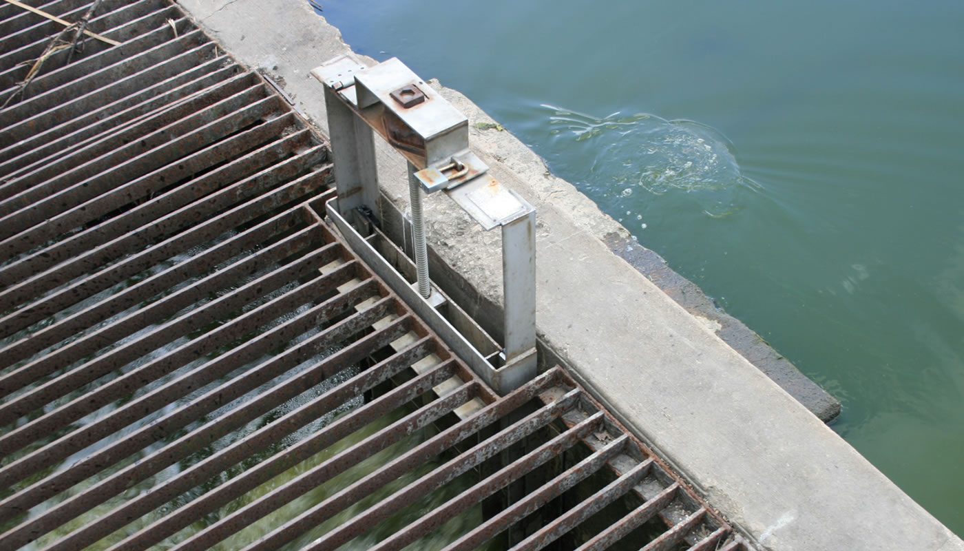 the water control structure at McGinnis Slough