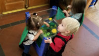 children playing indoors at Trailside Museum