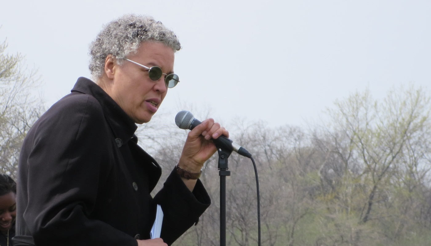 President Preckwinkle speaks at an event.