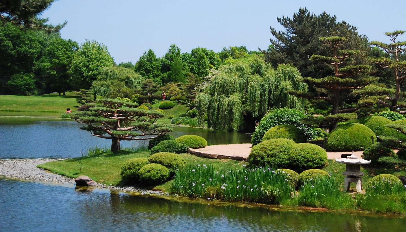 an island at Chicago Botanic Garden