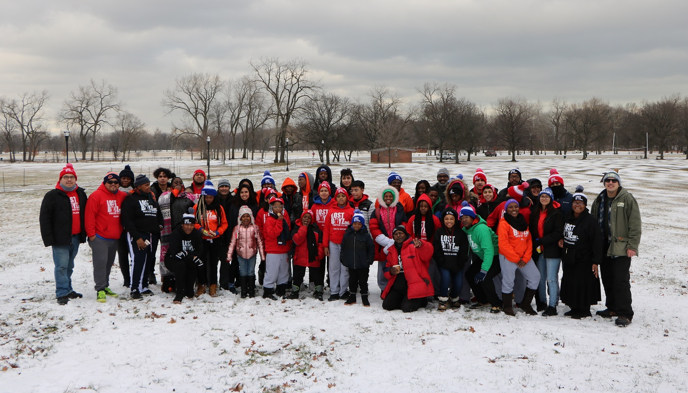 Group photo of Lost Boyz Inc at the annual MLK, Jr. Say of Service Event