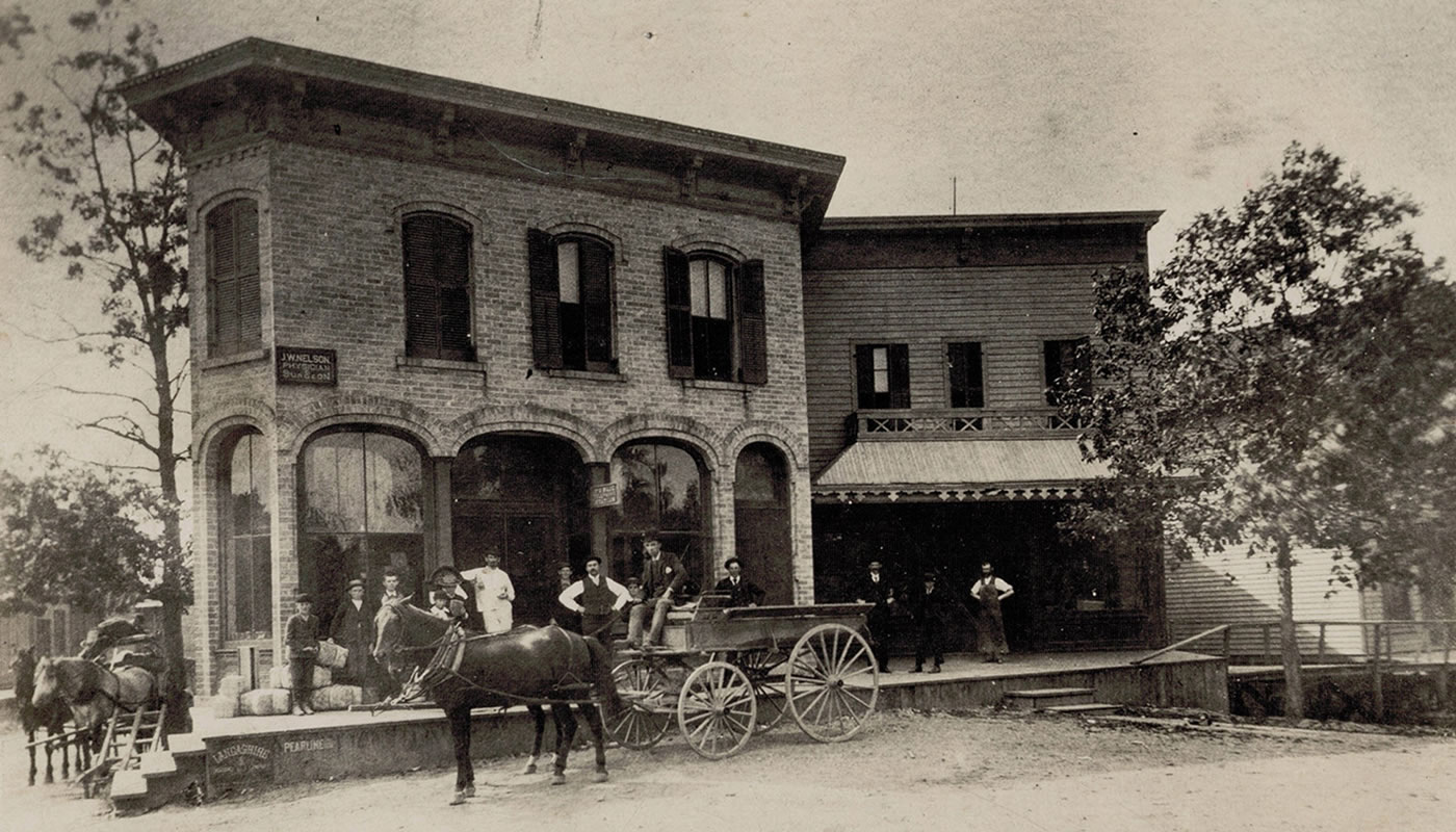 Winnetka in the 1880s: Max Meyer's store on Green Bay Road and Elm Street