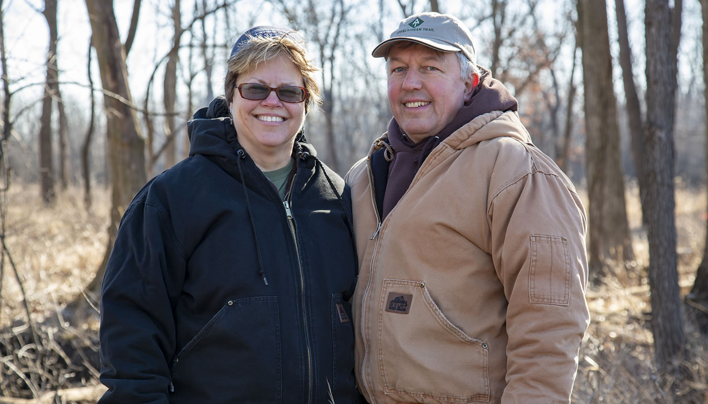 John and LuAnne Dudlo at Arie Crown Forest
