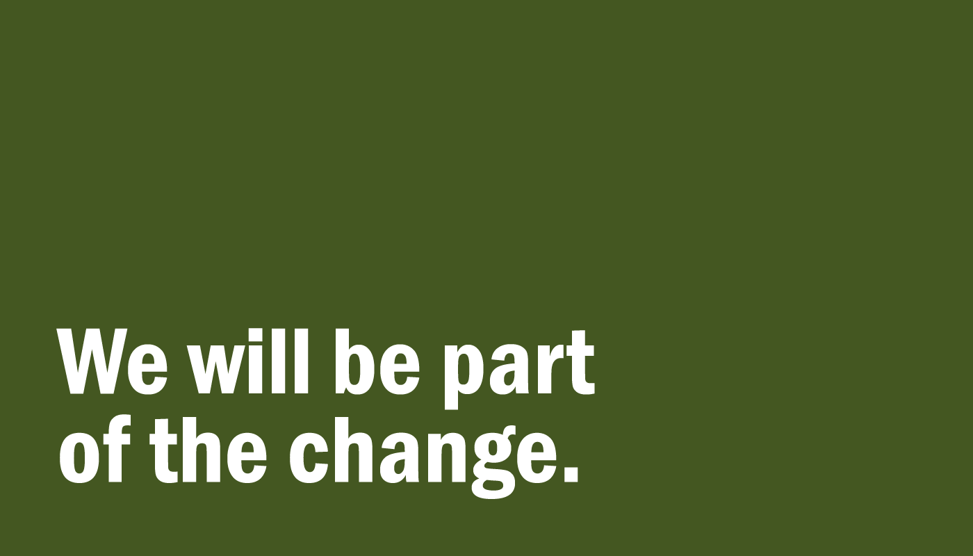 graphic: we will be part of the change