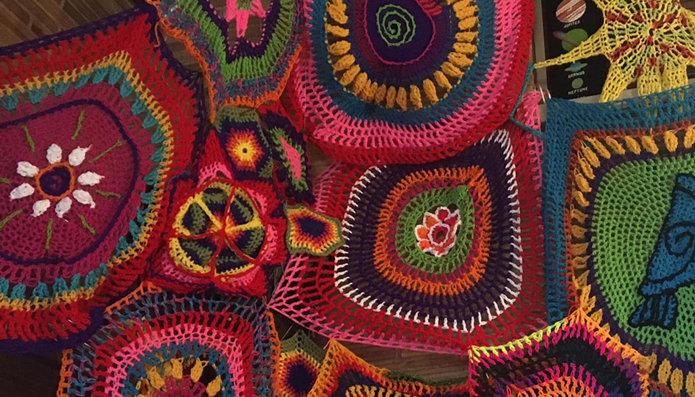 a web of yarn