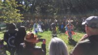 A ceremony at Schiller Woods Serpent Twin Mound
