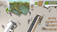 A rendering of new exhibits at Sand Ridge Nature Center, scheduled to open to the public in summer 2021.