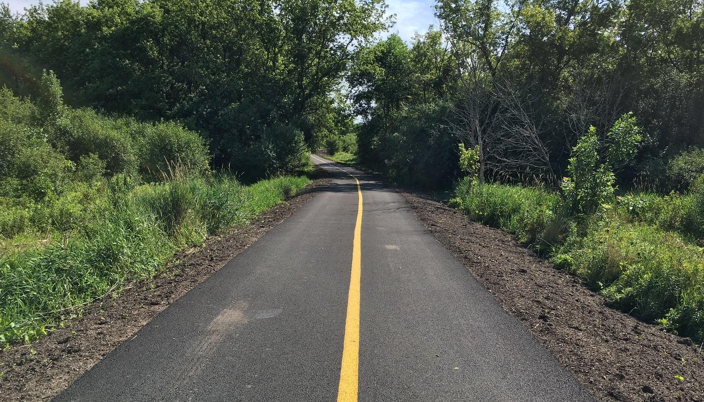 Completed Poplar Creek Trail spur