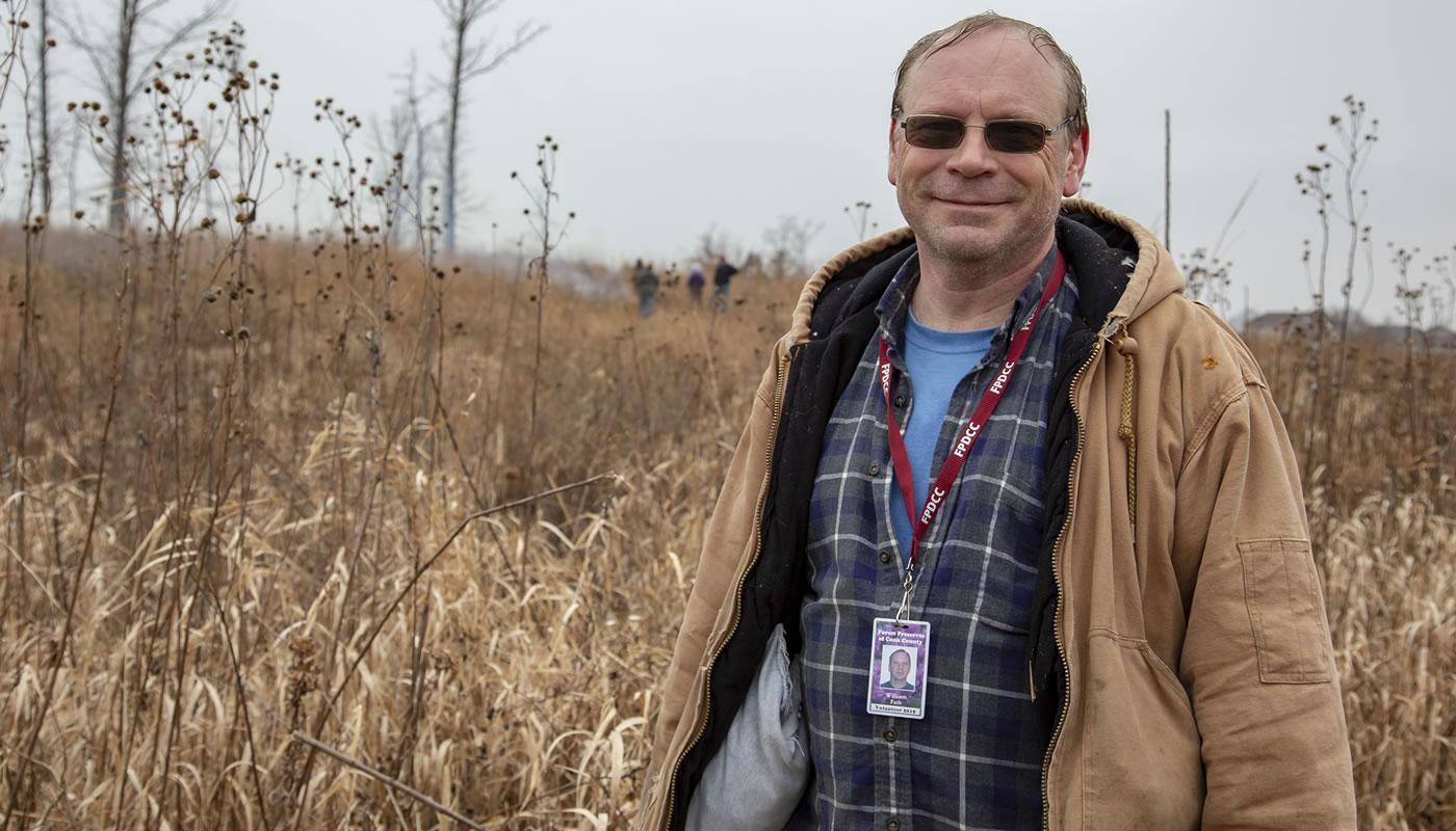 Bill Fath volunteering at Orland Grassland