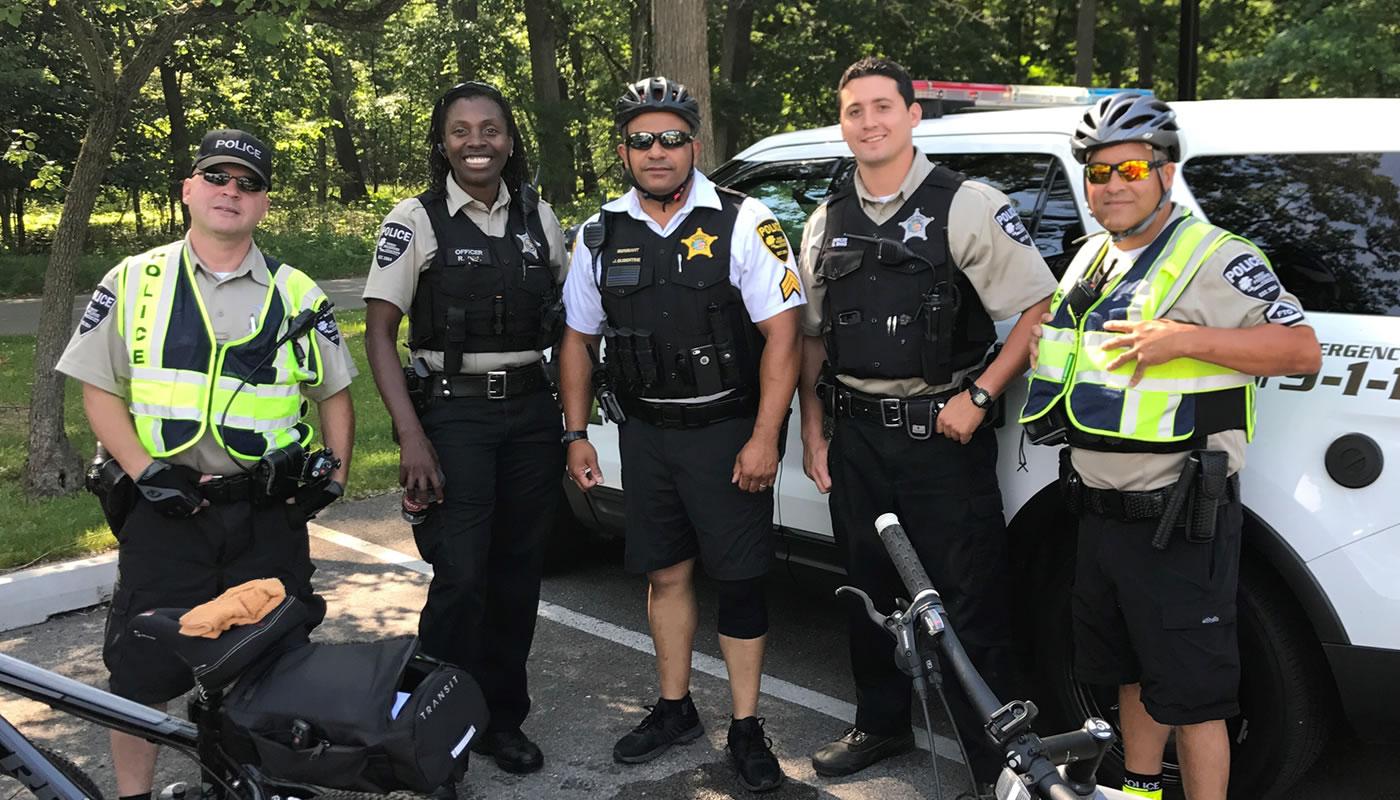 bike patrol forest preserves police officer
